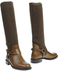 Gucci Green Boots - Lyst