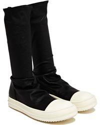 Rick Owens New Season - Womens Leather Sock Sneakers - Lyst