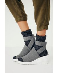 Jeffrey Campbell Gray Sport Wedge - Lyst