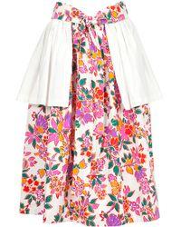 Yves Saint Laurent Vintage Peplum Detail Skirt - Lyst