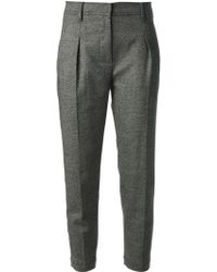 Brunello Cucinelli Tweed Trousers - Lyst