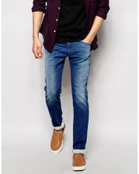 Diesel Jog Jeans Joggers 837T Thavar-Ne Slim Fit Mid Wash - Lyst
