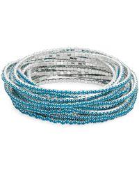 ABS By Allen Schwartz - Beaded Stretch Bracelet Set - Lyst