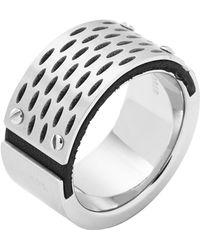 Diesel Silver Ring Dx0846 - Lyst