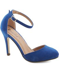 ModCloth Dinner and Dancing Heel in Blue blue - Lyst