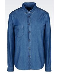 Armani Jeans Chambray Shirt - Lyst