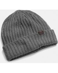 Coach Cashmere Solid Knit Hat - Lyst