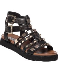 Steve Madden | Bettee Leather Caged Sandals | Lyst