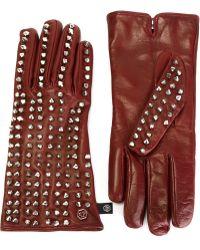 Philipp Plein 'crown' Gloves - Purple