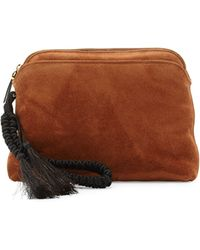 The Row - Suede Braided-strap Wristlet Pouch Bag - Lyst