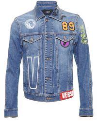 Versus  Denim Jacket blue - Lyst