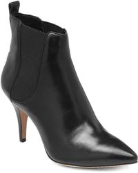 Vince Camuto Onya Leather Heeled Booties - Lyst