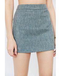 Cope - Cooperative Tweed Linen Mini Skirt - Lyst