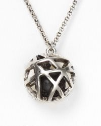 Low Luv by Erin Wasson Cage Sphere Necklace - Metallic