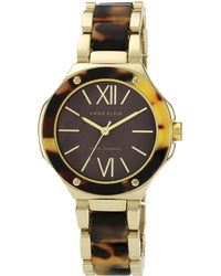 Anne Klein - Tortoise Resin Watch - Lyst