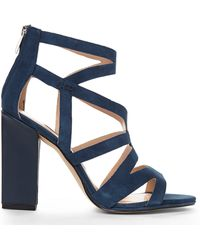French Connection Navy Isla Sandals - Lyst