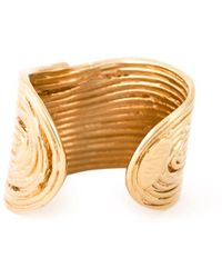Gas Bijoux Wide Wave Ring - Metallic