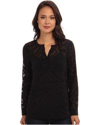 Rebecca Taylor Long Sleeve Liger Clip Double Pocket Top - Lyst