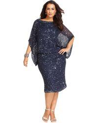 Patra Plus Size Kimono-Sleeve Beaded Dress - Lyst