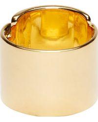 Maiyet - Gold Horn Foldover Ring - Lyst