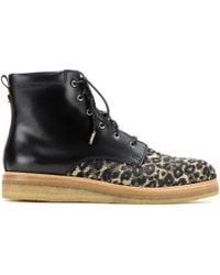 Jimmy Choo Halden Fabric And Leather Boots - Lyst