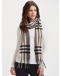 Burberry Giant Check Cashmere Skinny Scarf - Lyst