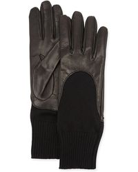 Gucci Leather-finger Cashmere Gloves - Lyst