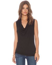 Ella Moss Black Icon Tank - Lyst