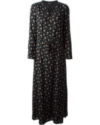 Maison Scotch Allover Flower Printed Long Dress - Lyst