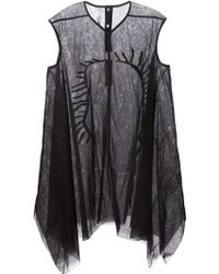 Rick Owens Embroidered Asymmetric Dress - Lyst