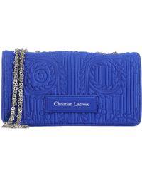 Christian Lacroix Blue Underarm Bag - Lyst