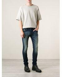 Diesel Skinny Faded Jeans - Lyst