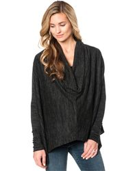 Drew - Maternity Cowl-neck High-low Sweater - Lyst