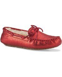 Ugg Ladies Dakota Suede Moccasin Slippers - Lyst