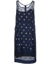 Diane von Furstenberg Rhinestone-Embelished Silk Dress blue - Lyst