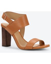 Ann Taylor Margo Leather Sandals brown - Lyst