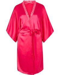 Stella McCartney - Clara Whispering Fuchsia Silk Robe - Lyst