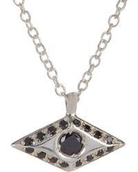 Wendy Nichol - Black Diamond & Sterling Silver Victorian Eye Pendant - Lyst