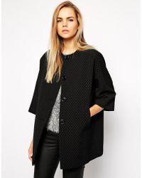 Helene Berman Kimono Coat with Welt Pocket - Lyst