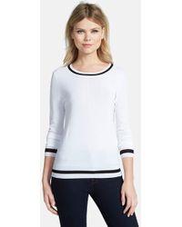 Trouvé Stripe Trim Sweater - Lyst