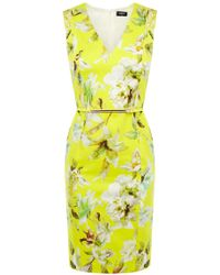 Oasis Lemon Zest Pencil Dress multicolor - Lyst