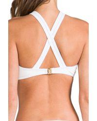 Camilla & Marc - Camilla Marc Cm Talk Too Much Embossed Oriental Bikini in White - Lyst