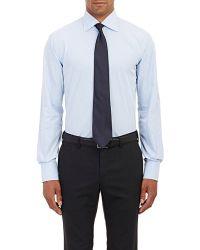 Barneys New York Poplin Shirt blue - Lyst