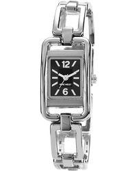 Nine West Ladies Silvertone Link Bracelet Watch - Metallic