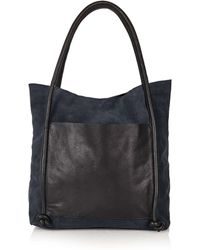 Topshop | Leather Knot Shopper | Lyst