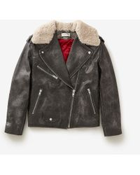 Etoile Isabel Marant Benny Shearling Moto Jacket - Lyst