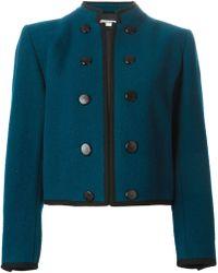 Yves Saint Laurent Vintage Cropped Jacket blue - Lyst