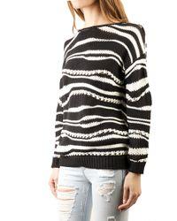 10 Crosby Derek Lam 10 Crosby Derek Lam Striped Sweater Shirt - Lyst