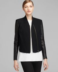Helmut Lang Jacket Leather Combo - Lyst