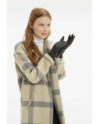 Oasis Quilted Leather Glove - Black